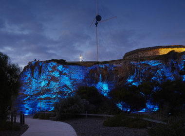 Arthur Head, Fremantle lit up dark blue