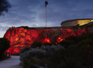 Arthur Head, Fremantle lit up red