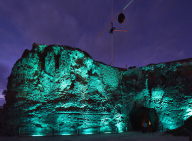 Arthur Head, Fremantle lit up aqua