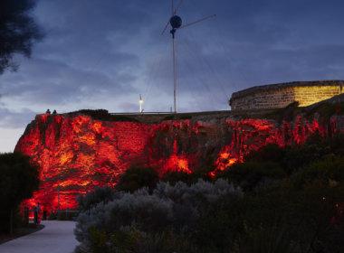 Arthur Head, Fremantle lit up red