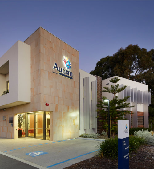 Autism Association building photo showing the Mondoluce supplied lighting