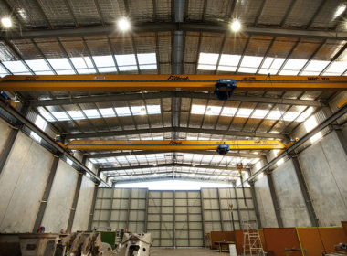 Murray Engineering warehouse showing the Mondoluce supplied lighting