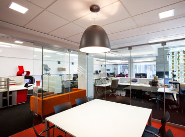 Schiavello Office and Showroom photo showing the Mondoluce supplied lighting