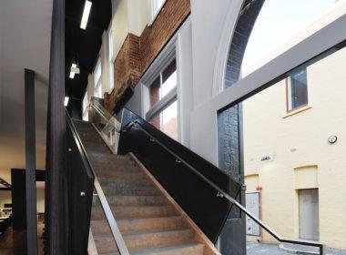 Cox Howlett & Bailey Woodland Studio interior photo showing the Mondoluce supplied lighting