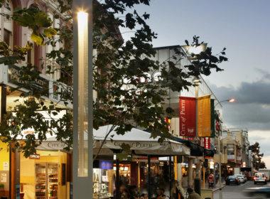 Hay Street Mall photo showing the Mondoluce supplied lighting