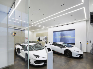 iGuzzini iN60 and Laser Blade at the Lamborghini Perth showroom