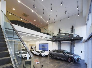 iGuzzini iN60 and Le Perroquet at the Lamborghini Perth showroom